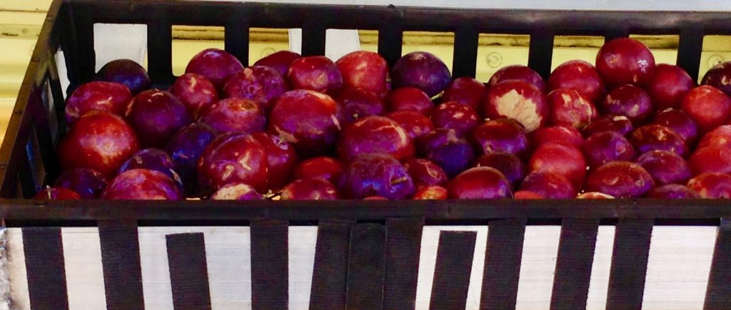 These red plums from the Farm Fresh truck in Southern New Mexico are a sweet taste of summer.