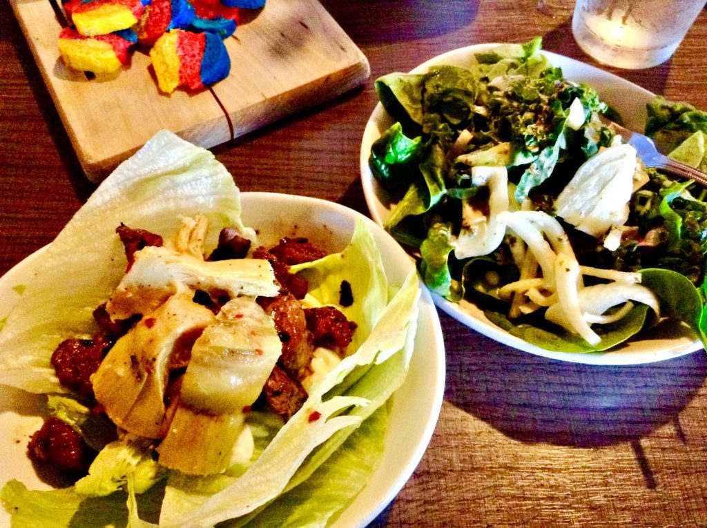 The Salud! de Mesilla Paleo Lunch includes the restaurant's House Salad.