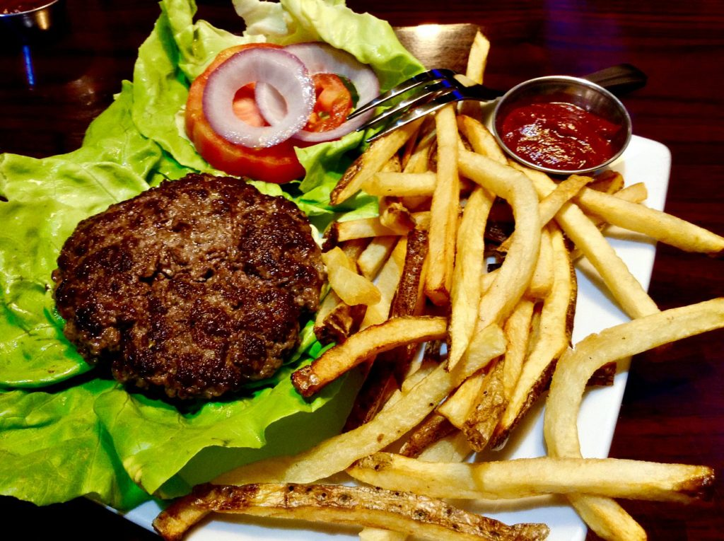 What Hamburger with Housemade Fries looks like at Dragonfly, a Las Cruces farm to table dining establishment.