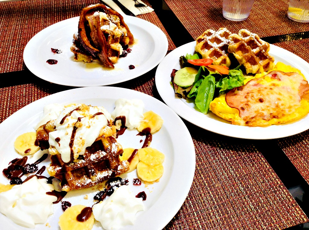 Three for Lunch (with fabulous Liège waffles!) at A Bite of Belgium, Las Cruces, New Mexico.