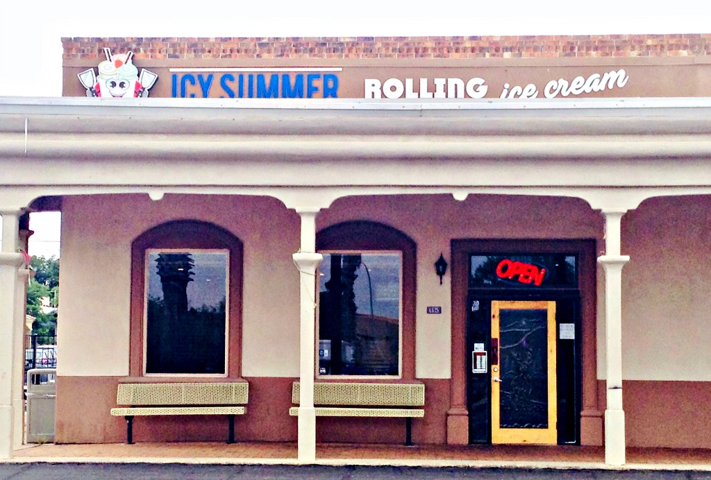 Yummy ice cream rolls are yours at Icy Summer Rolling Ice Cream in Las Cruces, New Mexico.