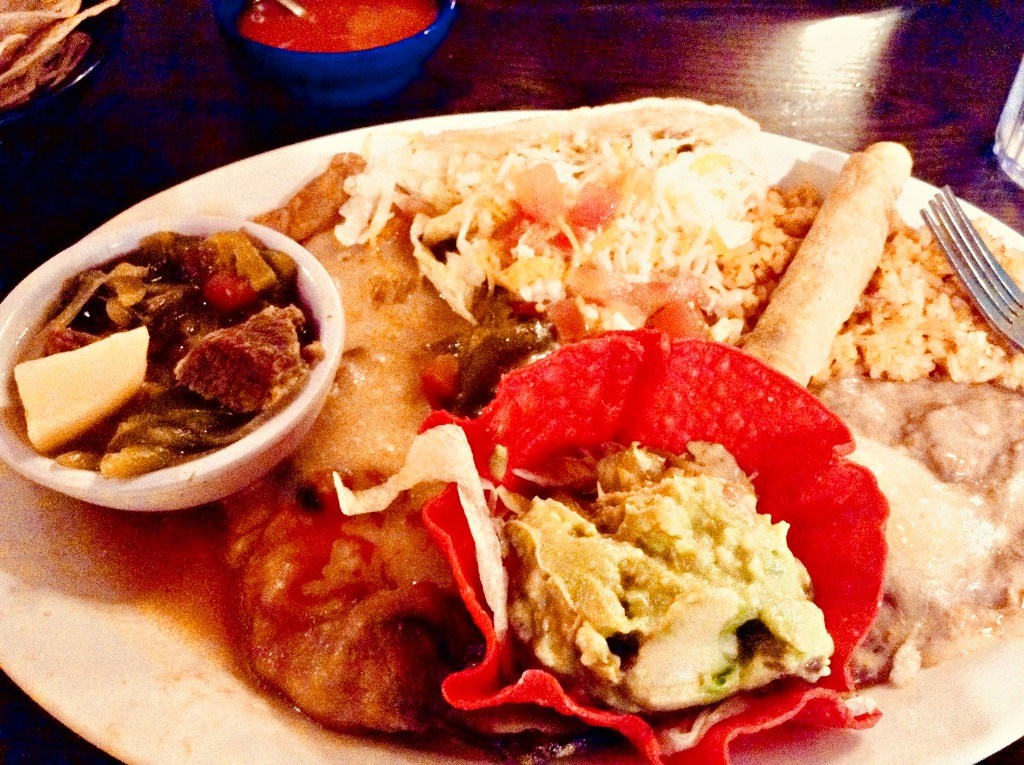 The Mexican Combination plate is among the legendary El Paso eats available at L & J Cafe.