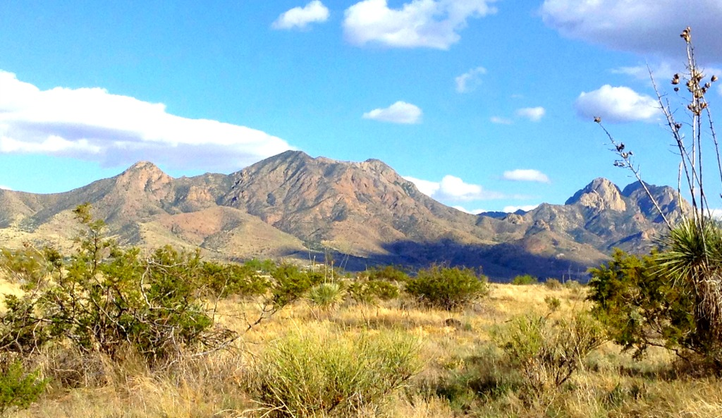 The San Andres Mountains of Southern New Mexico viewed from the west side in Northeast Las Cruces.