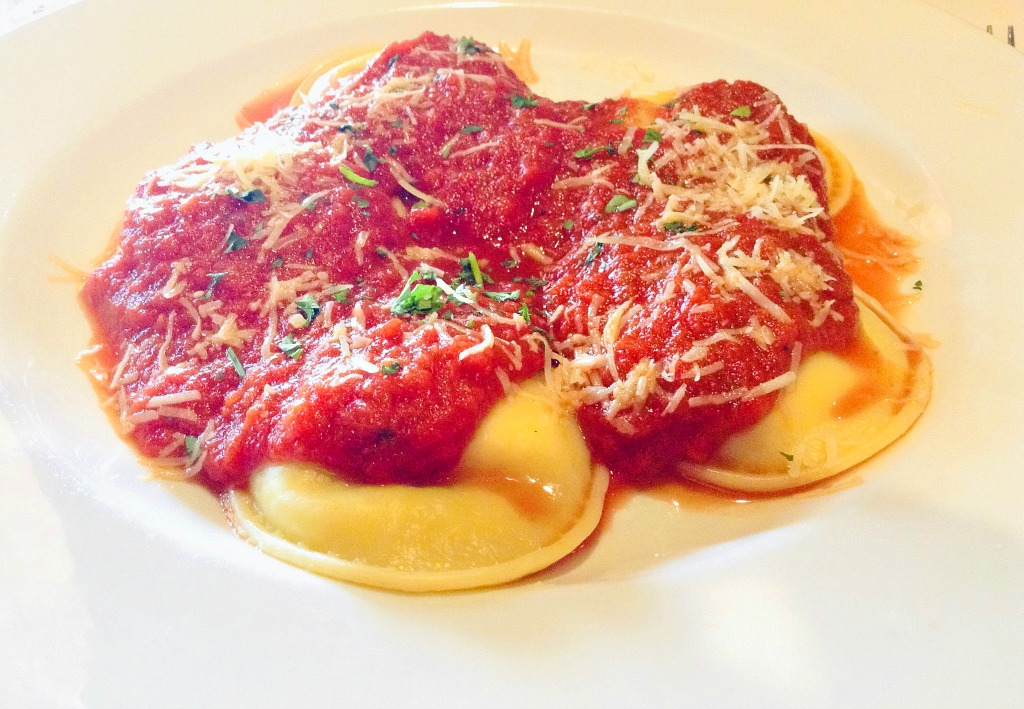 Delicious New York Italian style ravioli at Forghedaboudit in Deming, NM.