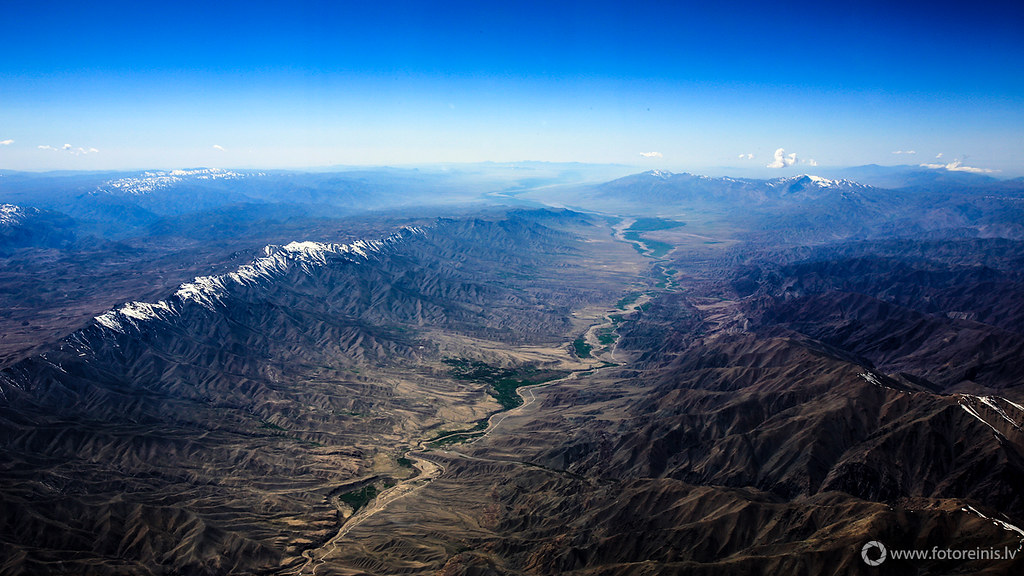 Aerial views of Afghanistans' craggy mountains and expansive valleys is an ideal way to savor Afghanistan. Image is by Reinis Melioraskis./Attribution NonCommercial 2.0 Generic (CC BY-NC 2.0)https://creativecommons.org/licenses/by-nc/2.0/
