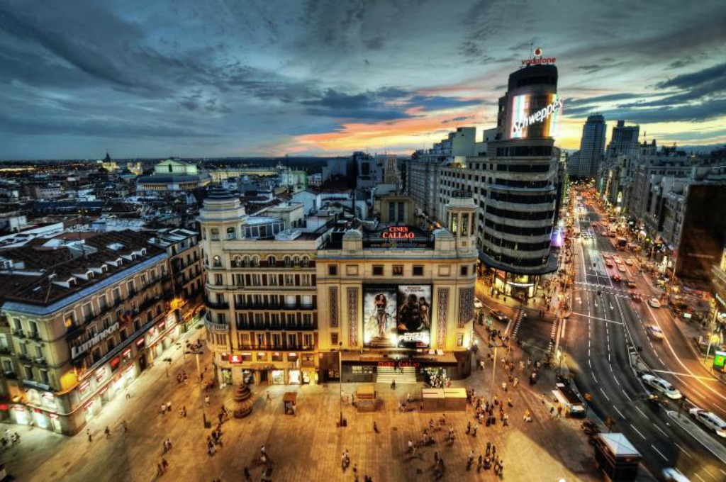 Day or night, you'll never run out of fun and creative things to do in Madrid. Image is Madrid by Jose Maria Cuellar.