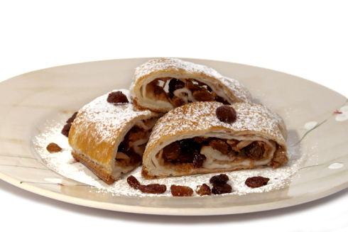 Rocciata, one of Italy's strudel-like pastry dishes, hails from Umbria, a region in Central Italy.